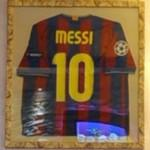 Lionel Messi's C.F. Barcelona jersey