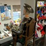 Don Quixote strapped to a chair (StreetView)