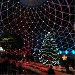 Christmas display at the Mitchell Park Domes