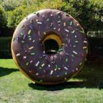 Giant doughnut with Google colored sprinkles