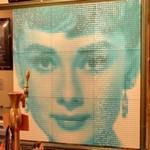 Audrey Hepburn mosaique portrait