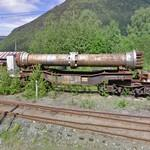 Long Norsk Hydro pipe on a railway waggon