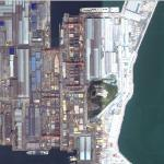 Drydocks at Hyundai Heavy Industries HQ (Google Maps)