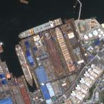 Drydocks at Hanjin Heavy Industries' Yeong-do Shipyard (Google Maps)