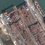 Drydocks on Longxue Island (Google Maps)