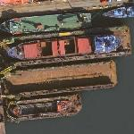 Floating drydocks in Poland (Google Maps)
