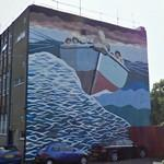 Historic rescue boat mural (StreetView)