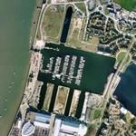 Drydocks of former Chatham Naval Dockyard (Google Maps)