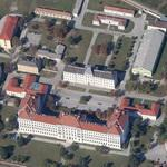 Former artillery cadet school - a refugee camp today (Google Maps)