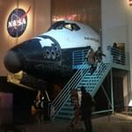 Entering Space Shuttle replica Adventure