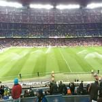 Before a football/soccer match on Camp Nou, Nov. 2012