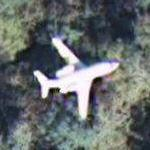 Airplane - Small jet over Florida (same plane imaged four times) (Google Maps)