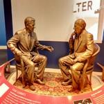 Statue of Presidents Ronald Reagan and Mikhail Gorbachev