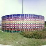 """Monument to the People"" in a roundabout (StreetView)"