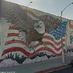 Flag of the United States mural