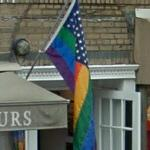 Rainbow/US flag (StreetView)