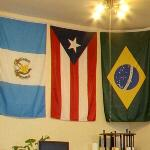 Flags of Guatemala, Puerto Rico & Brazil