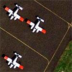 Red-winged planes on Tarmac (Google Maps)
