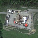 Fracking natural gas well