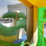 Inside a bouncy house