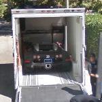 Unloading a Bugatti Veyron