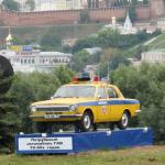 Volga Police Car monument