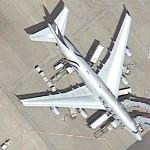 Boeing 747 in Skyteam special scheme (Google Maps)