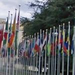 Flags at UN Office