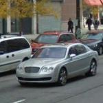 Bentley Rolls Through Detroit (StreetView)