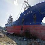 Ship washed ashore