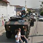 Armored vehicles in Rio (StreetView)