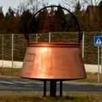 Big cauldron in a roundabout