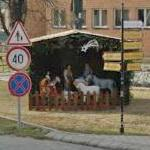 Roadside Christmas manger