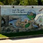 'Visit the Past' floodwall mural