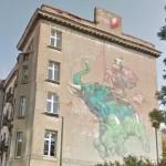 Baloon mural in Lodz