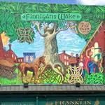 Finnigan's Wake mural in Spring Garden Street