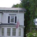American Flag at half staff (StreetView)