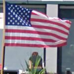 American flag (StreetView)