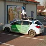 Google Car parked at Lidl