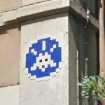 Invader graffiti