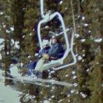 People on a ski lift