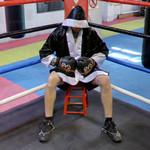 Boxer in corner of the ring