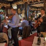 Musicians in a restaurant