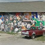 """The Steel Age"" Pittsburgh Steelers mural"