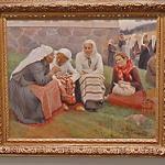 Women outside the Church at Ruokolahti by Albert Edelfelt