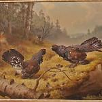 The fighting Capercaillies by Ferdinand von Wright