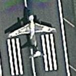 Airplane taking off (Google Maps)