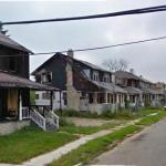 Row Of Burned Houses
