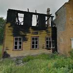 Burned house in Estonia
