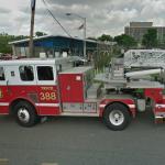 D.C. Tiller ladder Firetruck 388